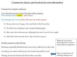 commas for clauses worksheets subordinate embedded relative
