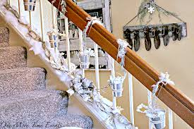 Banister Decorations For Christmas Christmas Stair Decoration Ideas One More Time Events