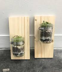 how to make a wall mounted mason jar planter