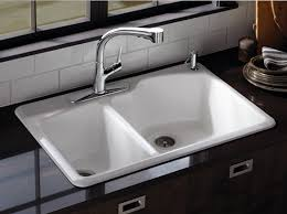 kohler elate kitchen faucet kohler canada wheatland offset self kitchen sink