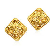 yellow gold stud earrings senco gold 22k yellow gold stud earrings