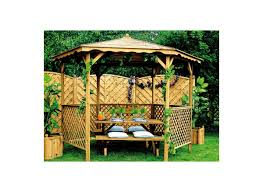tonnelle de jardin en bois tonnelle de jardin lora avec toit bois jardipolys à petit prix