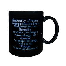 serenity prayer mug serenity prayer coffee mug alcoholics anonymous cleveland
