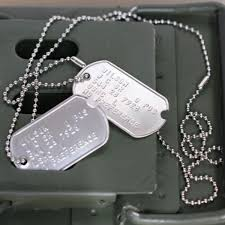 Personalized Dog Tags For Men Personalised Us Army Dog Tags With Custom Embossed Message
