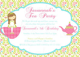 Unique Birthday Invitation Cards Tea Party Birthday Invitations Blueklip Com