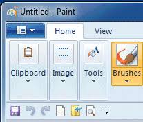using paint in windows 7