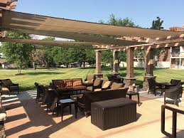 Sunscreen Patios And Pergolas by Commercial Awnings Kansas City Tent U0026 Awning Commercial Shade