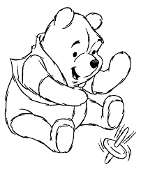 pooh coloring pages kids