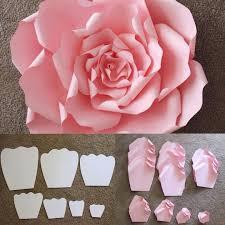 printable large flowers printable pink ribbon printable stencil
