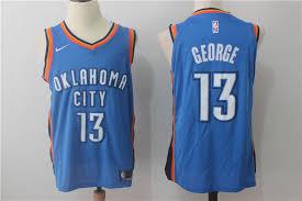 oklahoma city thunder 13 paul george orange alternate stitched