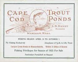 Cape Cod In April - cape cod trout ponds l b handy manager wareham mass fishing