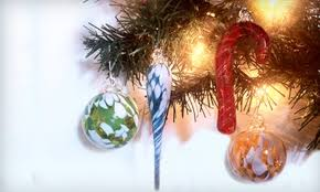 half handcrafted glass ornaments kingston glass studio and