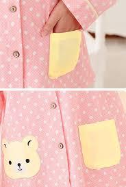 pajama beary sweet polka dot print vintage pajama set in pink