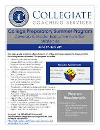 collegiate coaching services college preparatory summer program