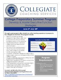 collegiate coaching services college preparatory summer program