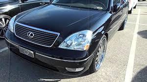 lexus ls430 gold package black lexus on forgiato wheels at stuntmania 2014 youtube