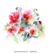 desert rose watercolor color manageable vector stock vector