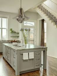 painted kitchen island gray kitchen island transitional kitchen porters paint