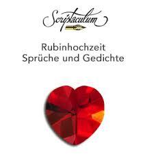 scriptaculum - Sprüche Zur Rubinhochzeit