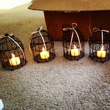 bird cage flameless candles diy wedding decorations black and