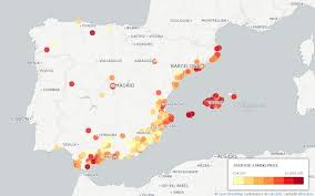 cheapest west coast cities mapped where to find spain s cheapest property
