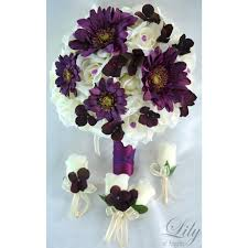 Groom S Boutonniere Plum Purple Ivory