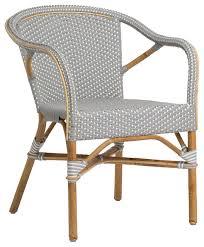 Grey Bistro Chairs Sika Design Madeleine Outdoor Bistro Arm Chair Grey With White