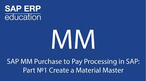 sap mm purchase to pay processing in sap part 1 create a