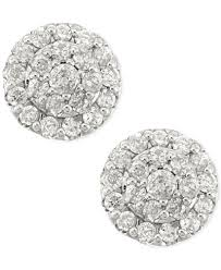 images for earrings diamond cluster stud earrings in 14k white gold 1 2 ct t w