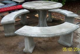 Concrete Table And Benches Southern Precast Concrete Products