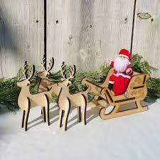 santa s sleigh set 3 reindeer wildflower toys