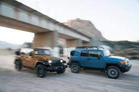what size engine does a jeep wrangler 2014 jeep wrangler unlimited vs 2014 toyota fj cruiser motor trend