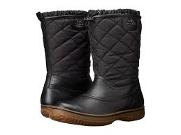 womens boots quilted coach samara black quilted all weather winter boots