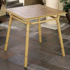 Wood Patio Dining Table by Mandalay Patio Dining Furniture