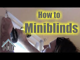How To Take Down Blinds Installing Mini Blinds With Greg Zanis