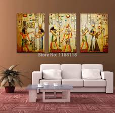 popular triple wall frame buy cheap triple wall frame lots from free shipping triple abstract no frame picture egyptian mural room escape modern decorative painting a large
