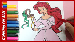 princess coloring pages how to color ariel disney coloring