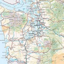atlas road map washington road recreation atlas benchmark maps washington