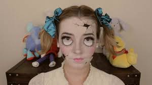 broken porcelain doll makeup halloween costume pinterest