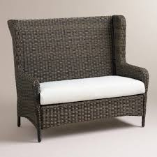 Wicker Storage Bench Bench All Weather Wicker Bench Steins Garden Home Letright