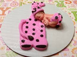 fondant baby giraffe cake topper pink edible cake topper