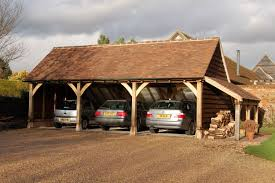 Small Car Ports Three Bay Small Frame Garage With Log Store Andrew Page Oak Ltd