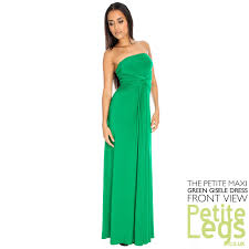 gisele bandeau strapless height maxi dress in green uk size