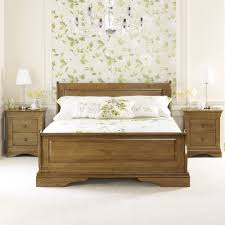 Oak Sleigh Bed Louis Solid Oak 5ft King Size Sleigh Bed Four Poster Bed