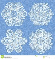 set of lace ornaments royalty free stock image image 35112506