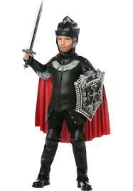 kids black knight costume scary medieval halloween costume
