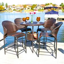 Yakoe Garden Furniture Dorset Rattan Garden Furniture 6 Seater Bar Set With Ice Bucket