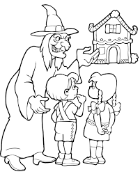 hansel gretel coloring pages free printable coloring pages