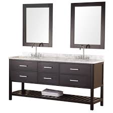 Restoration Hardware Bathroom Furniture by Design Element London 72 In W X 22 In D Vanity In Pearl White With