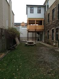 backyard landscaping privacy fence u0026 veranda makeover bucktown